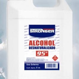 ALCOHOL DESNATURALIZADO 95% 5 LITROS STRONGER