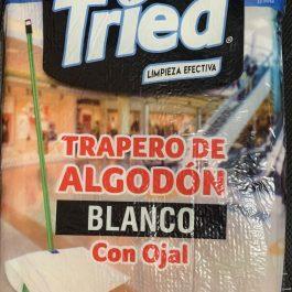 TRAPERO DE ALGODON BLANCO CON OJAL TRIED 3 UNIDADES