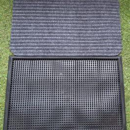 PEDILUVIO PVC SHORE 65+ALFOMBRA ABSORVENTE PARA SECADO