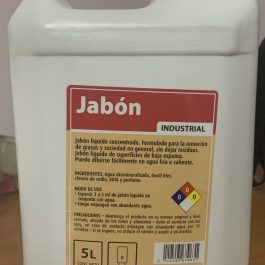 JABÓN LÍQUIDO INDUSTRIAL 5 LITROS